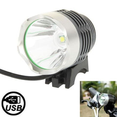 3 Modes USB CREE XML T6 LED Headlamp / Bicycle Light Luminous Flux: 900lm Cable Length: 1.5m