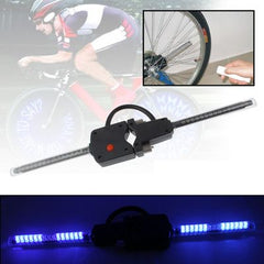 30 Blue LED Wireless Custom Message Bike Wheel Lights