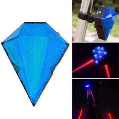 3-Mode Blue Light Bicycle Laser Taillight(Blue)
