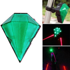 3-Mode Green Light Bicycle Laser Taillight(Green)