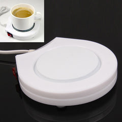 Electronic Coffee Cup Warmer Plate Beverage Heater Warm-keeper (US Plug)(White)