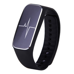 L18 Bluetooth 4.0 Smart Bracelet Support Pedometer / Mood / Blood Pressure / Heart Rate Monitor / Sleep Monitor / Fatigue State(Black)