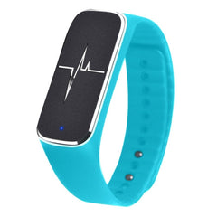 L18 Bluetooth 4.0 Smart Bracelet Support Pedometer / Mood / Blood Pressure / Heart Rate Monitor / Sleep Monitor / Fatigue State(Blue)