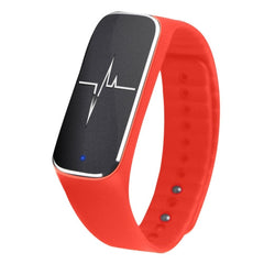 L18 Bluetooth 4.0 Smart Bracelet Support Pedometer / Mood / Blood Pressure / Heart Rate Monitor / Sleep Monitor / Fatigue State(Red)