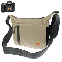 Portable Digital Camera Cloth Bag with Strap Size: 195 x 85 x 155mm (Beige)