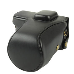 Digital Leather Camera Case Bag with Strap for Samsung NX300