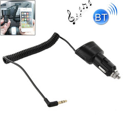 Car Charger Bluetooth 3.5mm AUX Audio Receiver Music Adapter with USB Port for iPad / iPhone 5 & 5C & 5S / iPhone 4 & 4S / Samsung Galaxy S IV / S III DC 5V / 2.1A Cable Length: 30cm (can be extended up to 95cm)(Black)