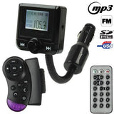 The Newest 1.5 inch Hands Free Car Kit Bluetooth FM Modulator & Car MP3 for Car Steering Wheel Support SD / USB Flash Disk
