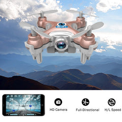 CX-10W WiFi 6-axis Gyro 4-Channel 2.4GHz RC Mini Quadcopter with Camera(Rose Gold)