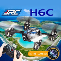 JJRC H6C 2.0MP Camera 6-axis Gyro 4-Channel 2.4GHz Drone Radio Control Quadcopter with LCD Transmitter(Blue)