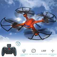JJRC H12C-1 6-axis Gyro 4-Channel 2.4GHz Radio Control Headless Mode Drones Quadcopter with LED Light(Orange)