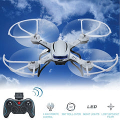 JJRC H12C-1 6-axis Gyro 4-Channel 2.4GHz Radio Control Headless Mode Drones Quadcopter with LED Light(White)