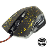 WEYES 2400DPI USB Optical 6D Competitive Game Mouse (Yellow)