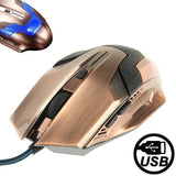 G3 800 / 1200 / 1600 / 2000 DPI High Speed Wired USB 6D Gaming Optical Mouse with LED Backlight (Retro Copper)