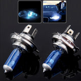 H4 Halogen Bulb Super White Car Headlight Bulb 12 V / 55W 6000K 1700 LM  (Pair)