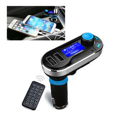 Bluetooth Tacking Handsfree Car Kit FM Transmitter with Remote Control 2.1A Dual Car Charger for iPhone 6 & 6 Plus / Samsung Galaxy S6 / Mobile Phone