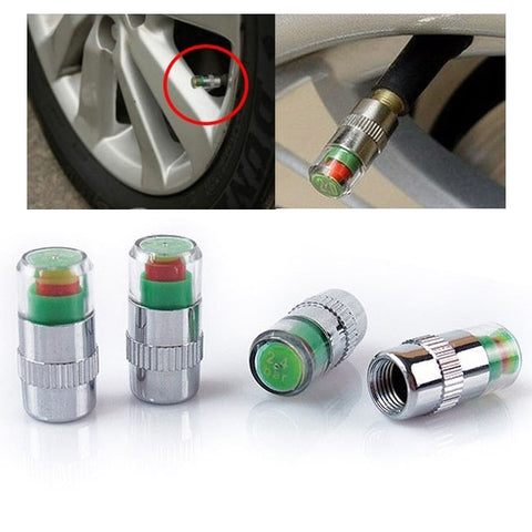 2.4 Bar Tire Pressure Detection Screw Cap, Pack of 4