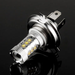 H4 80W White 16 CREE LED Fog Light for Vehicles, DC 12V