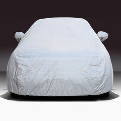 Outdoor Universal Anti-Dust Waterproof Sunproof 2-compartment Car Cover Size: 450cm x 185cm x 150cm Silver