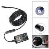USB Digital Endoscope Inspection Camera with 6 LED Length: 5m Lens Diameter: 5.5mm