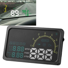 6 Inch Car HUD Head Up Display Vehicle-mounted Security System with OBDII Interface & Speed & Fuel Consumption & Water Temperature & Fault Diagnosis Etc