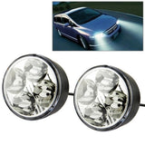 Ultra-Slim Waterproof White LED Daytime Running Lights DC 12V (Pair)
