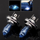 H4 Halogen Bulb, Super White Car Headlight Bulb, 12 V, 90 /100W, 5500K (Pair) - Zasttra.com - 1