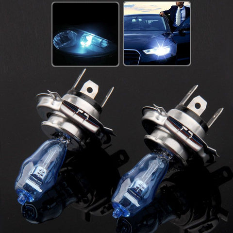 H4 Halogen Bulb, Super White Car Headlight Bulb, 12 V, 90 /100W, 5500K (Pair)