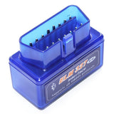 Super Mini ELM327 Bluetooth OBDII V2.1 Car Diagnostic Interface Tool Support OBDII-ISO 9141-2 ISO 14230-4(KWP2000) CAN ISO-15765-4(Blue)