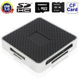 USB 3.0 Super Speed All in 1 Card Reader Support CF / SD / TF / M2 / XD Card