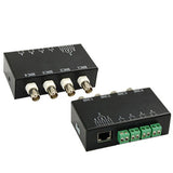 4 Channel Passive Video BNC to UTP RJ45 Balun Transceiver
