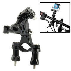 Bike Bicycle Camera Handlebar Bar Mount Holder with 3 Way Pivot Arm for GoPro HD HERO4 / 3+ / 3 / 2 / 1(Black)