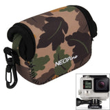 GN-7 Maple Leaves Pattern GoPro Accessories Neoprene Inner Protective Bag Camera Pouch for GoPro Hero4 /3+ /3