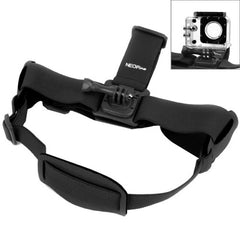 NEOpine GHS-2 Adjustable Action Camera Fixed Head Strap for GoPro HERO4 /3+ /3 /2 /1 Xiaomi Yi Sport Camera(Black)