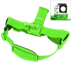 NEOpine GHS-2 Adjustable Action Camera Fixed Head Strap for GoPro HERO4 /3+ /3 /2 /1 Xiaomi Yi Sport Camera(Green)