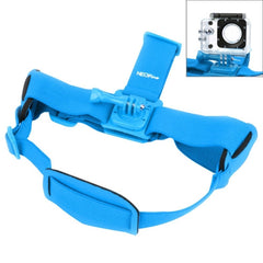 NEOpine GHS-2 Adjustable Action Camera Fixed Head Strap for GoPro HERO4 /3+ /3 /2 /1 Xiaomi Yi Sport Camera(Blue)