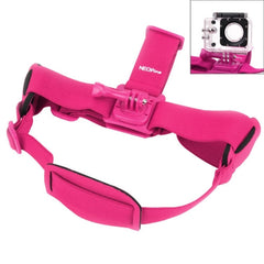 NEOpine GHS-2 Adjustable Action Camera Fixed Head Strap for GoPro HERO4 /3+ /3 /2 /1 Xiaomi Yi Sport Camera(Magenta)