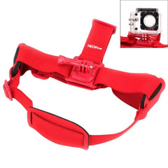 NEOpine GHS-2 Adjustable Action Camera Fixed Head Strap for GoPro HERO4 /3+ /3 /2 /1 Xiaomi Yi Sport Camera(Red)