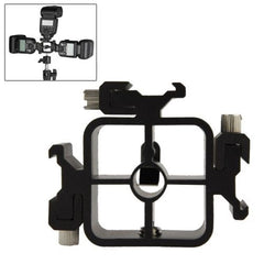 3 Triple Head Hot Shoe Mount Adapter Flash Holder Bracket Light Stand holder (XF0003)