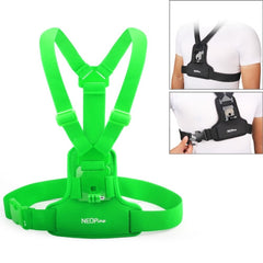 NEOPINE Elastic Fibers Diving Material Chest Belt for GoPro Hero 4 / 3+ / 3 / 2 / 1(Green)