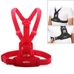 NEOPINE Elastic Fibers Diving Material Chest Belt for GoPro Hero 4 / 3+ / 3 / 2 / 1(Red)