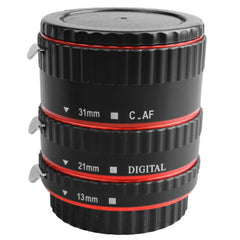 DEBO-C-L 3 Rings Macro Extension Tube Set for Canon EOS EF / EF-S Lens (13mm + 21mm + 31mm Ring)(Red)