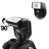 Universal Hot Shoe Camera Electronic Flash with PC Sync Port (CY-20)(Black)