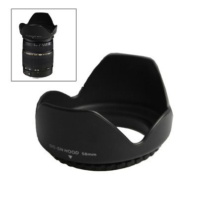 58mm Lens Hood for Cameras(Screw Mount)