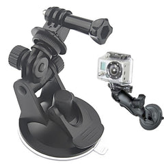 ST-51 Mini Car Suction Cup Tripod Adapter + 7CM Diameter Base Mount for GoPro HERO4 / 3+ / 3 / 2 / 1(Black)