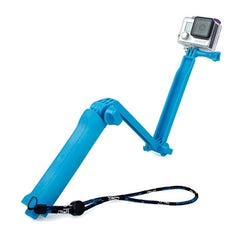 TMC 3-Way Handheld Monopod + Tripod + Hand Strap Portable Magic Mount Selfie Stick for GoPro HERO4 / 3+ / 3 / 2 / 1 SJ4000
