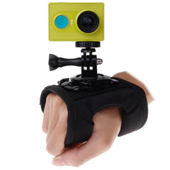 360 Degree Rotation Glove Style Strap Mount Wrist Strap Palm Holder with Screw and Adapter for Xiaomi Yi Sport Camera / GoPro Hero4 / 3+ / 3 / 2 / 1 Size: 45cm x 11cm