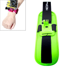 NEOpine Sports Diving Wrist Strap Mount Stabilizer 90 Degree Rotation for GoPro Hero 4 / 3+ / 3 / 2 / 1(Green)
