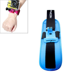 NEOpine Sports Diving Wrist Strap Mount Stabilizer 90 Degree Rotation for GoPro Hero 4 / 3+ / 3 / 2 / 1(Blue)