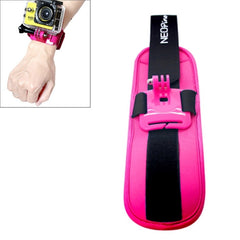 NEOpine Sports Diving Wrist Strap Mount Stabilizer 90 Degree Rotation for GoPro Hero 4 / 3+ / 3 / 2 / 1(Magenta)